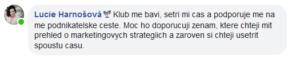 reference na klub od Lucie Harnošové